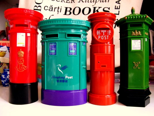 4 post boxes!